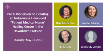 "Panel Discussion on Creating an Indigenous Elders-Led ""Patient Medical Home"" Healing Centre in the Downtown Eastside"