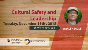 November 15th,2018 – Cultural Safety and Leadership