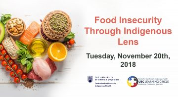 Nov 20th, 2018 – Food Insecurity through Indigenous Perspectives