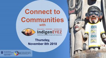 November 8th, 2018 – Connect to Communities with Kim Haxton from IndigenEYEZ