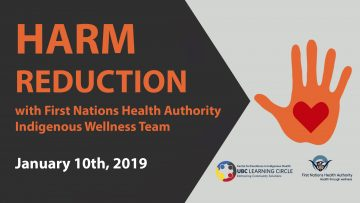 January 10th, 2019 – Harm Reduction with FNHA