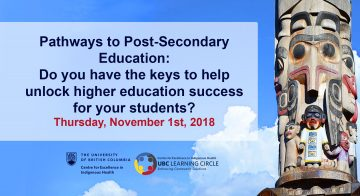 November 1st, 2018 – Pathways to Post-Secondary Education: Do you have the keys to help unlock higher education success for your students?