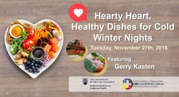 November 27th, 2018 – Hearty Healthy Dishes for Cold Winter Nights