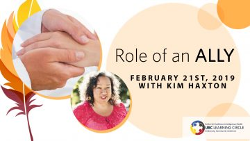 February 21st, 2019 – Role of an Ally with Kim Haxton from IndigenEYEZ