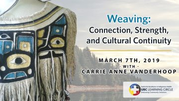 March 7th, 2019 – Weaving: Connection, Strength, and Cultural Continuity with Carrie Anne
