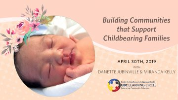 April 30th, 2019 – Building Communities that Support Childbearing Families with Danette Jubinville & Miranda Kelly
