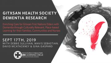 Sept 17, 2019 – Gitxsan Health Society Dementia Research: Enriching Care for Gitxsan First Nations Elders with Dementia through Culturally Relevant, Place-based Learning for their Families, Communities and Nurses
