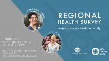 Sept 26, 2019 – Regional Health Survey with FNHA