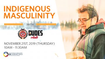 November 21st, 2019 – Indigenous Masculinity with the DUDES Club