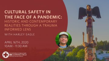 April 16th, 2020 –  Cultural Safety in the Face of a Pandemic: Historic and Contemporary Realities through a Trauma Informed Lens with Harley Eagle