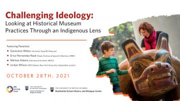 October 28th, 2021 – Challenging Ideology: Looking at Historical Museum Practices Through an Indigenous Lens Part 2