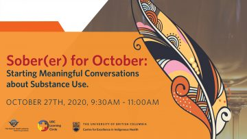 October 27th, 2021 – Sober(er) for October: Starting Meaningful Conversations about Substance Use.